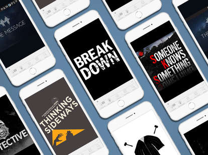 Design of iphone with podcasts