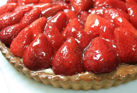 Tarte Fraise Amandine Patissiere Cafe strawberries