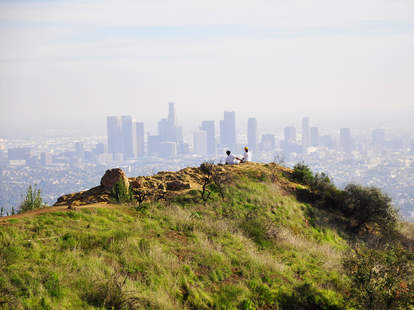 Los Angeles from a hill