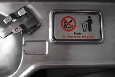 Airplane bathroom trash