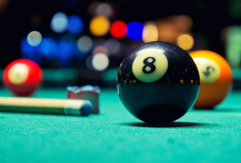 pool, pool table, pool cue, 8 ball