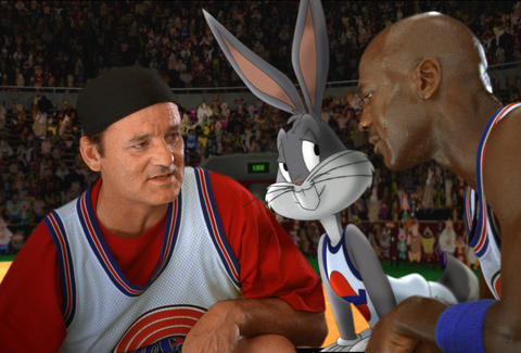 bugs bunny, michael jordan, bill murray, space jam