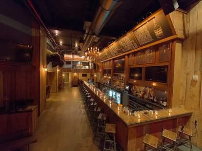 American Whiskey bar new york city interior