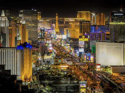 Las Vegas aerial view, Las Vegas strip