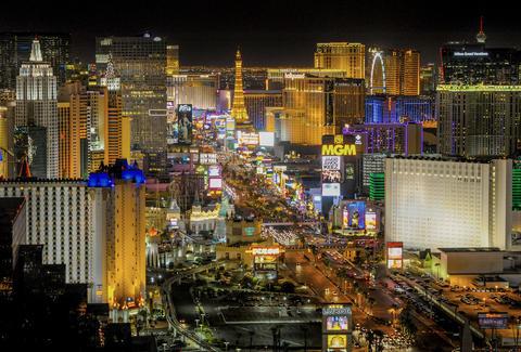 Las Vegas Aerial View Las Vegas Strip