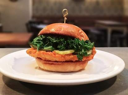 Chicken sandwich at The Penrose NYC