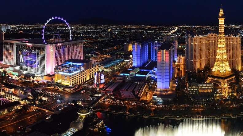 Las Vegas skyline, Las Vegas strip