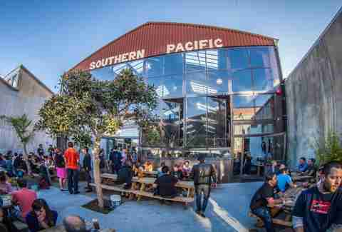 Backyard at Southern Pacific Brewing