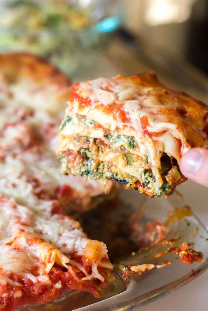 vegetable lasagna recipe healthy lunch