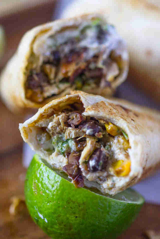 fiesta chicken burrito wraps recipe