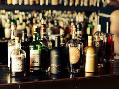 Whiskey Bottles at Broken Record Bar & Grill