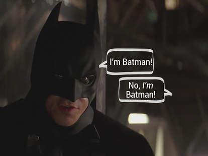 Batman photo with captions