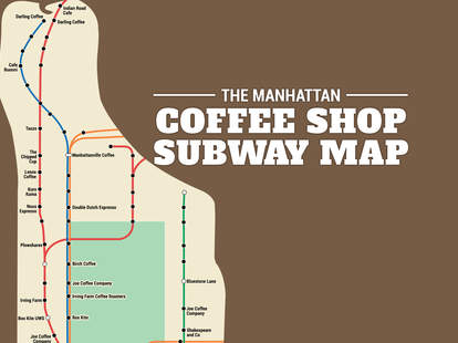 Manhattan coffee subway map