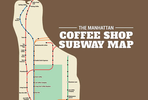 Manhattan coffee subway map