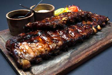 rack of ribs at Bar-becue castell