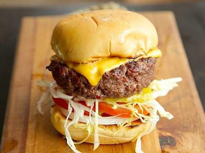 Kuhnhenn Brewing Co. burger onion cheese detroit michigan