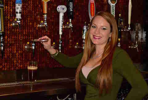 Amanda Snyder San Antonio bartender at Flying Saucer Draught Emporium