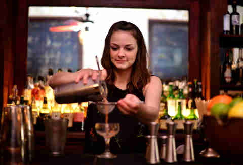 Hillary Woodhouse bartender at The Esquire Tavern in San Antonio