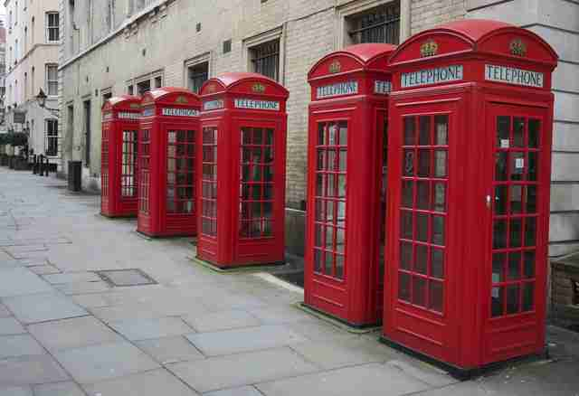 Covent Gardens, Red Telephone Boxes