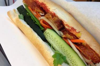 banh mi sandwich from interasian market & deli