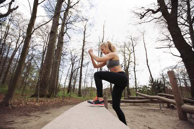 outdoor workouts, stepping up exercise