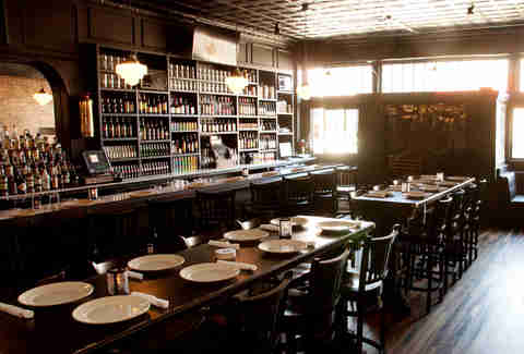 Interior of the blind butcher