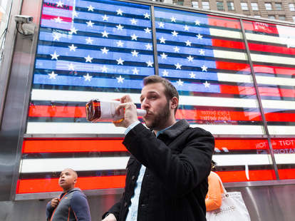 Public Drinking in Times Square