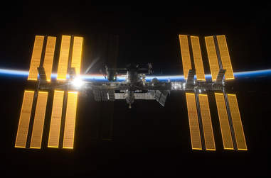 international space station full view