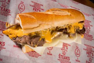 pat's king of steak sandwich