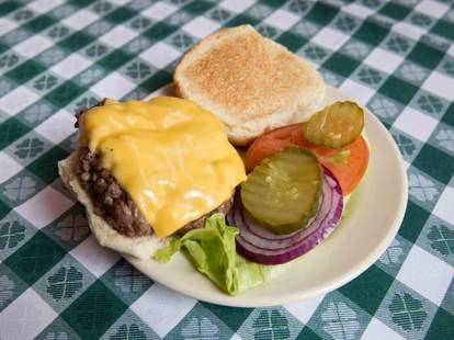 Burger at J.G. Melon