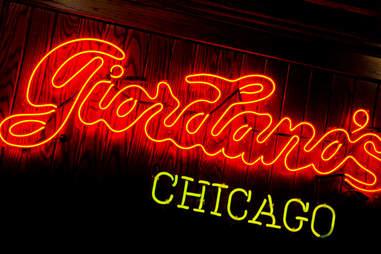 girodano's chicago neon sign pizza