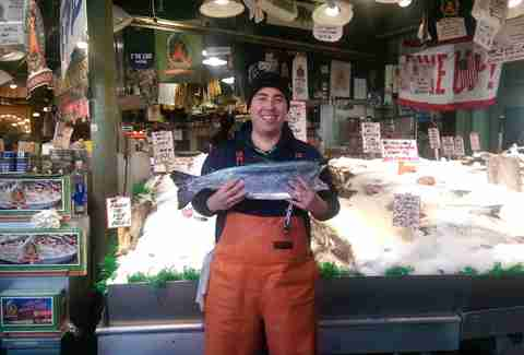 Ryan Yokoyama  Fishmonger, Pike Place Fish Market in Seattle