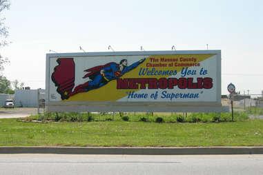 Metropolis, Illinois, the home of Superman