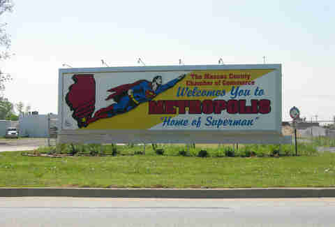 Metropolis, Illinois, the home of Superman