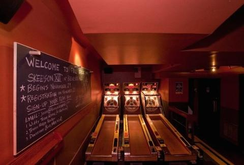 full circle bar, skeeball games