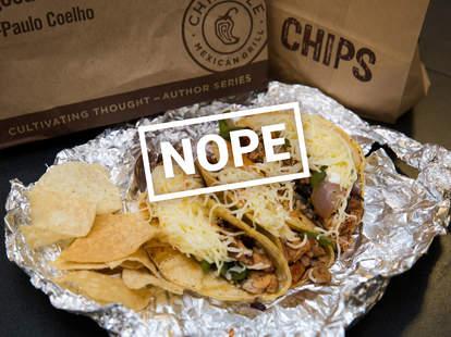Chipotle tacos, tacos