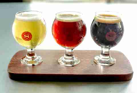 beer flight at sessions at the presidio