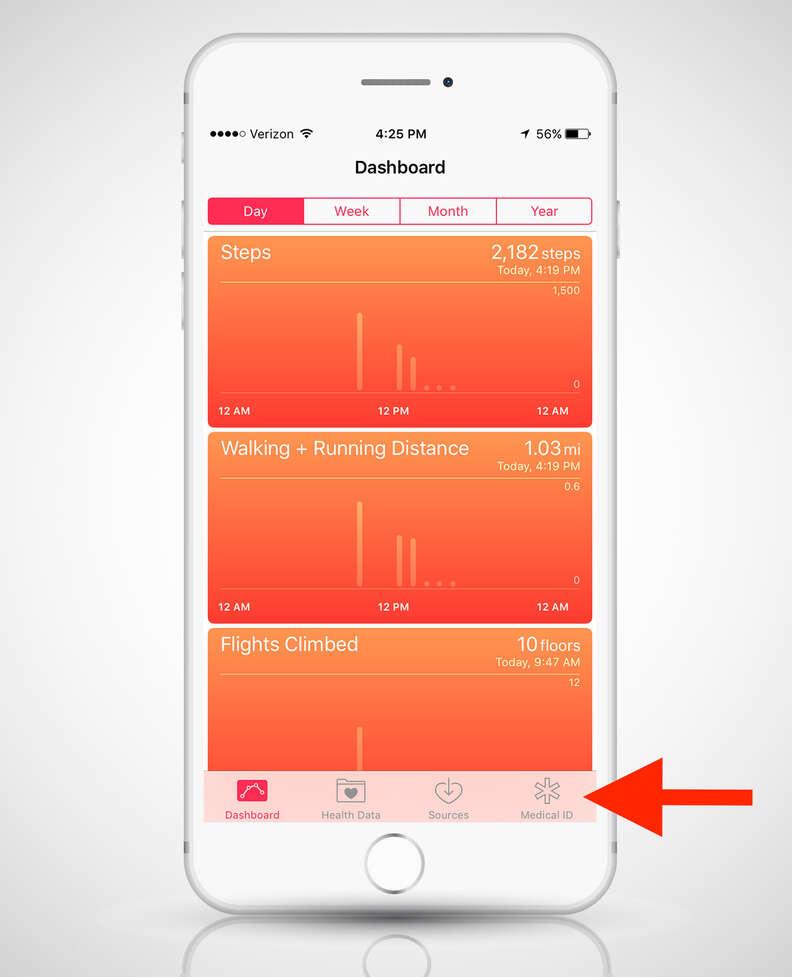 Health app on iphone 6s