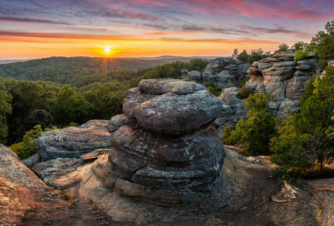 Shawnee National Forest's Garden of the Gods