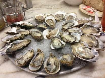 Oyster Platter at Swan Oyster Depot