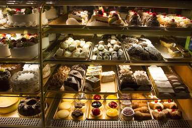 De Lillo Pastry Shop glass case