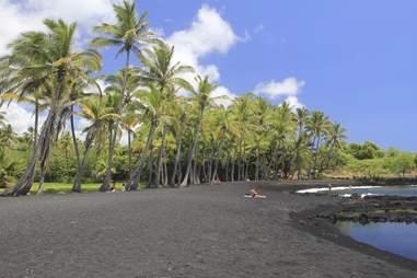 Panalauu Black Sand Beach