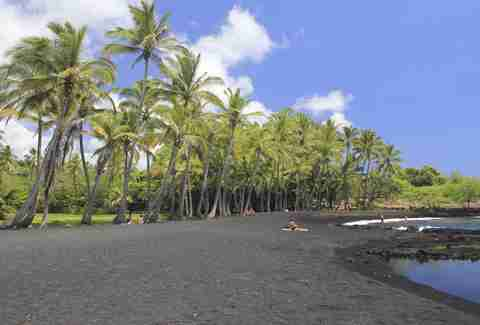 Panalauu Black Sand Beach