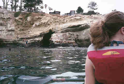 kayaking through sea caves