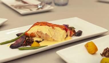 Weinkeller salmon dish