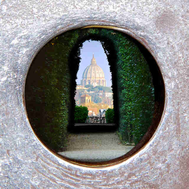 st. peter's basilica italy through keyhole