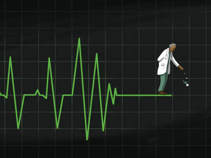 Jason Hoffman Illustration for Thrillist Health article on dying patients