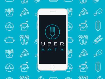 UberEATS app on phone