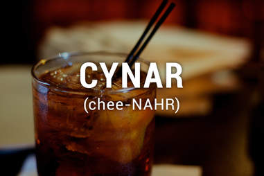 Glass of cynar