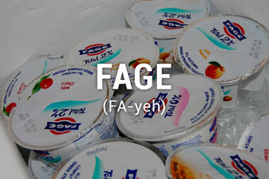 Cups of Fage yogurt